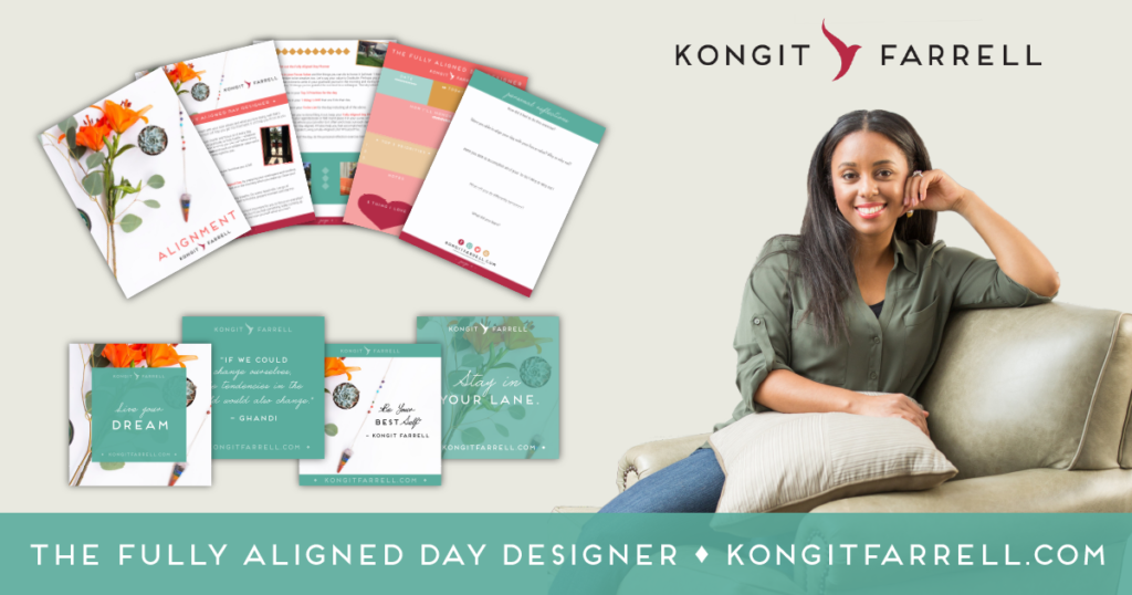 Use the Fully Aligned Day Designer to get in Alignment with your goals, everyday.